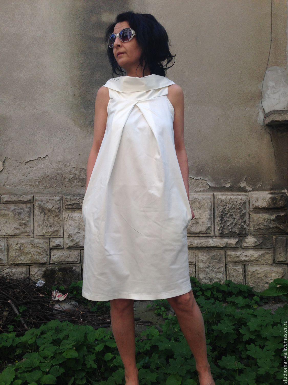Купить белое элегантное платье