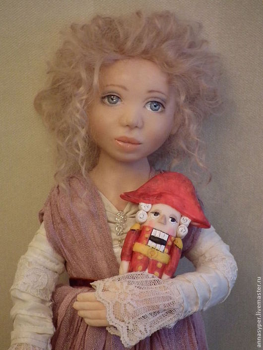 Коллекционные куклы ручной работы. Ярмарка Мастеров - ручная работа. Купить Новогодняя сказка.Мари и щелкунчик. Handmade. Розовый