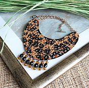 Украшения handmade. Livemaster - original item Leather necklace Huntress. Handmade.