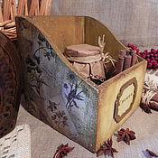 """Для дома и интерьера ручной работы. Ярмарка Мастеров - ручная работа Короб для специй """"Горчичный"""". Handmade."""