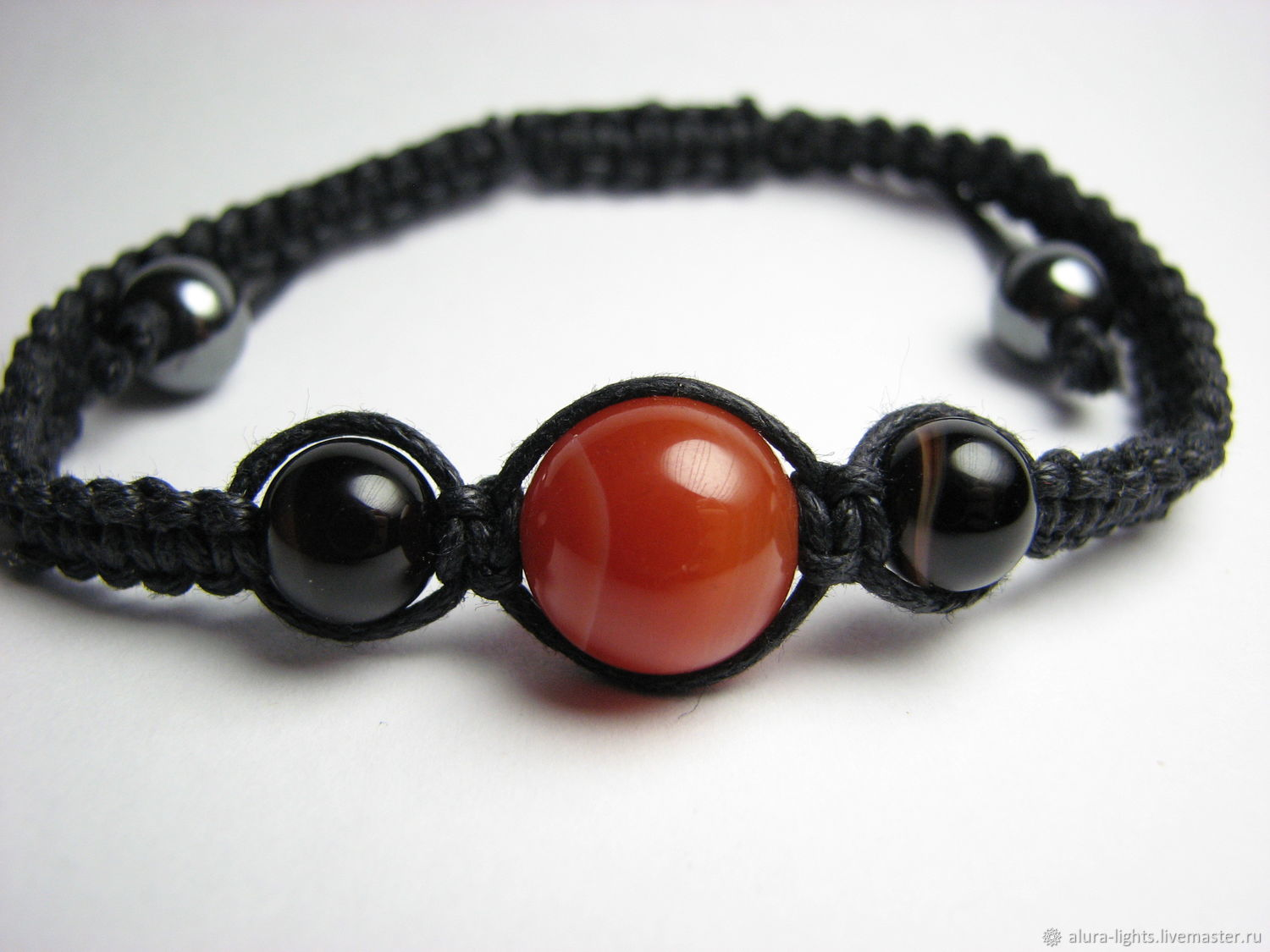 Shamballa Bracelet Carnelian And Agate Shop Online On Livemaster