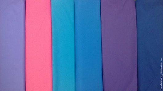 Ткань курточная 240Т DOBBY TRONGEE Мембрана Цвета: сирень, розовый, тем.бирюза, голубой, фиолетовый, тем.синий.