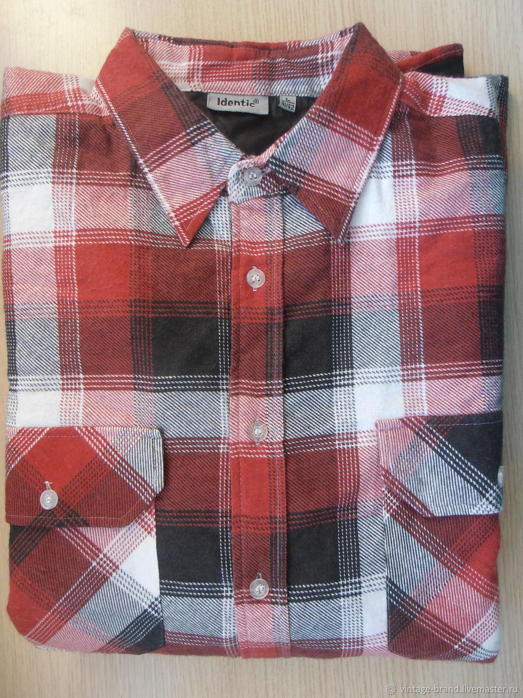 Винтаж: Рубашка с подкладом,стёганая.Identic.Германия, Одежда винтажная, Санкт-Петербург,  Фото №1