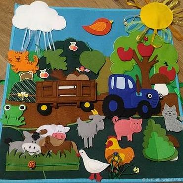 Куклы и игрушки ручной работы. Ярмарка Мастеров - ручная работа Развивающее панно. Handmade.