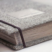 Канцелярские товары handmade. Livemaster - original item Family photo album in a wool cover (Kraft leaves). Handmade.