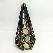 Кольца ручной работы. Ярмарка Мастеров - ручная работа Серебряное кольцо 925 пробы с натуральным опалом. Handmade.