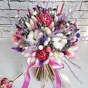 Букеты ручной работы. Ярмарка Мастеров - ручная работа Лавандово пионовый букет из сухоцветов. Handmade.
