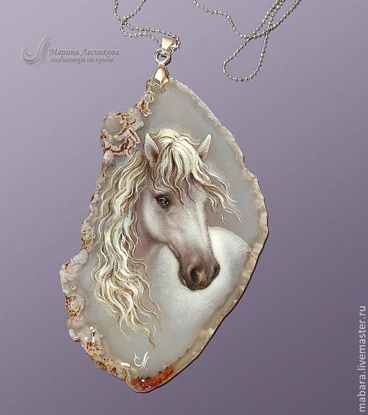 """Кулоны, подвески ручной работы. Ярмарка Мастеров - ручная работа. Купить Коллекция """"Белые лошади"""". Handmade. Серый, лошадь"""