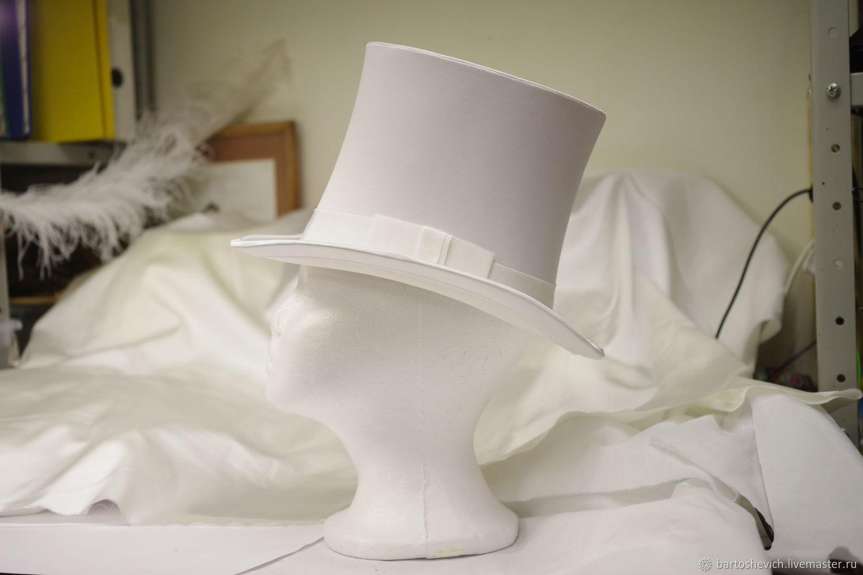 Wedding women's top hat with veil, Hats, St. Petersburg,  Фото №1