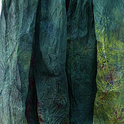 Палантины ручной работы. Ярмарка Мастеров - ручная работа Шарф из шелковой органзы `Изумрудный кетцаль`. Handmade.