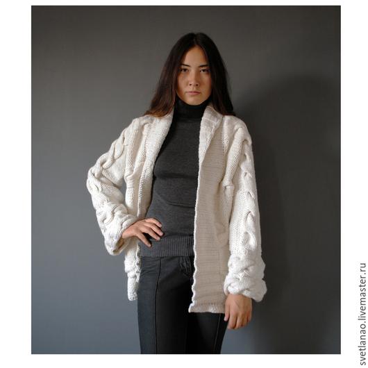 """Верхняя одежда ручной работы. Ярмарка Мастеров - ручная работа. Купить Пальто """"White paradise"""". Handmade. Белый, Авторское вязание"""