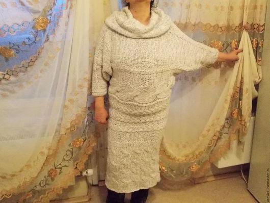 Платья ручной работы. Ярмарка Мастеров - ручная работа. Купить Платье вязаное.. Handmade. Белый, платье женское, связано спицами