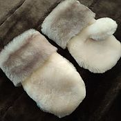 Работы для детей, handmade. Livemaster - original item Children`s mittens made of natural fur. Handmade.
