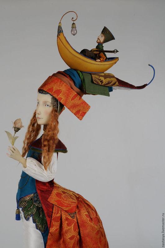 """Коллекционные куклы ручной работы. Ярмарка Мастеров - ручная работа. Купить Авторская кукла """"Жена поэта"""". Handmade. Ярко-красный"""