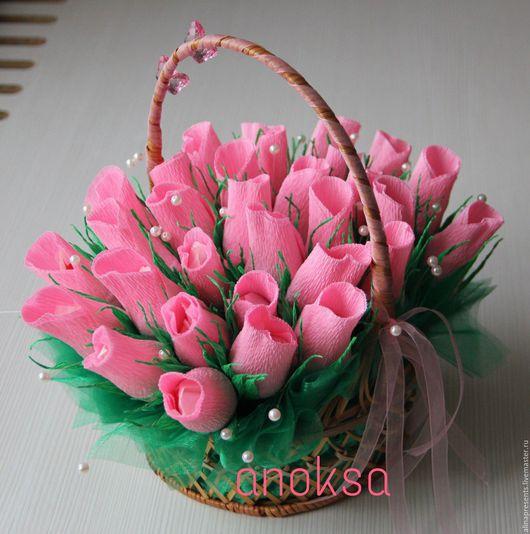 """Персональные подарки ручной работы. Ярмарка Мастеров - ручная работа. Купить Подарок """"сладкий букет роз"""". Handmade. Бледно-розовый"""
