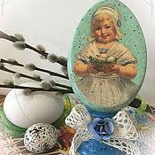 Подарки к праздникам ручной работы. Ярмарка Мастеров - ручная работа Яйцо пасхальное на подставке. Handmade.