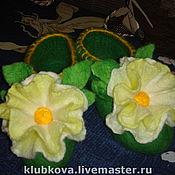 Обувь ручной работы. Ярмарка Мастеров - ручная работа тапусички жёлто-зелёные. Handmade.