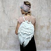 Классическая сумка ручной работы. Ярмарка Мастеров - ручная работа Крылья Ангела Необычный Рюкзак кожа. Handmade.