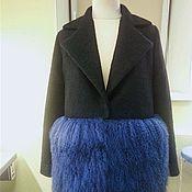 Одежда ручной работы. Ярмарка Мастеров - ручная работа Утеплённое пальто с мехом ламы. Handmade.
