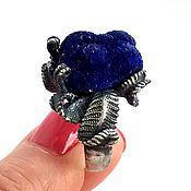 """Украшения ручной работы. Ярмарка Мастеров - ручная работа Кольцо""""Azure fleur  """" -азурит друза,серебро 925. Handmade."""