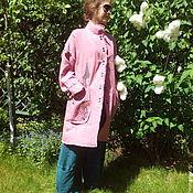 Одежда ручной работы. Ярмарка Мастеров - ручная работа Пальто льняное. Handmade.