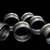 Винтаж handmade. Livemaster - original item Napkin rings. Set of 6 PCs. Tin. Handmade.