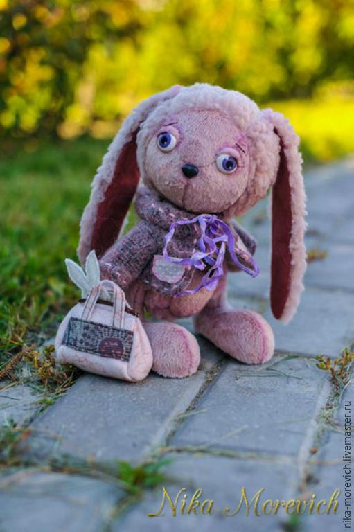 Мишки Тедди ручной работы. Ярмарка Мастеров - ручная работа. Купить Зайка Василинка. Handmade. Розовый, зайчонок, тедди зайка
