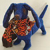 """Куклы и игрушки ручной работы. Ярмарка Мастеров - ручная работа Собака-такса """"Поль"""". Handmade."""