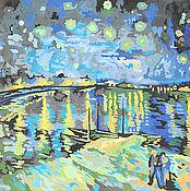 """Картины и панно ручной работы. Ярмарка Мастеров - ручная работа Картина """"Звёздная ночь"""". Handmade."""