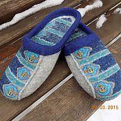"""Обувь ручной работы. Ярмарка Мастеров - ручная работа тапочки """"Морские"""". Handmade."""