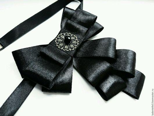 Колье, бусы ручной работы. Ярмарка Мастеров - ручная работа. Купить Шелковый бант - галстук. Handmade. Бант - галстук