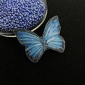 Украшения ручной работы. Ярмарка Мастеров - ручная работа Синяя брошь бабочка (брошка, синий). Handmade.