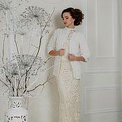 """Свадебный салон ручной работы. Ярмарка Мастеров - ручная работа Жакет """"Невеста"""" белый для невесты. Handmade."""