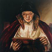 """Картины ручной работы. Ярмарка Мастеров - ручная работа Картина """"Читающая старушка"""". Handmade."""