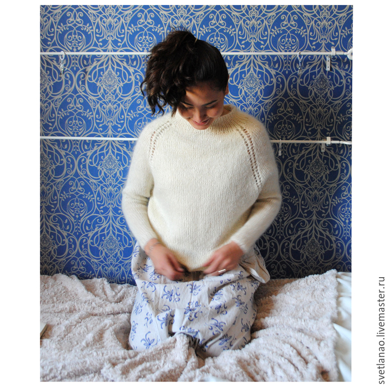 Knitted jumper, sweater 'SARANA' from Italian mohair, Pullover Sweaters, St. Petersburg,  Фото №1