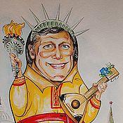 Картины и панно ручной работы. Ярмарка Мастеров - ручная работа Дружеский шарж. Посол США в России, г-н Майкл Макфол. Handmade.