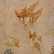 """Сумка-шоппер ручной работы. Ярмарка Мастеров - ручная работа Экосумка """"Фитоследы"""", окрашена южными растениями и морем. Handmade."""