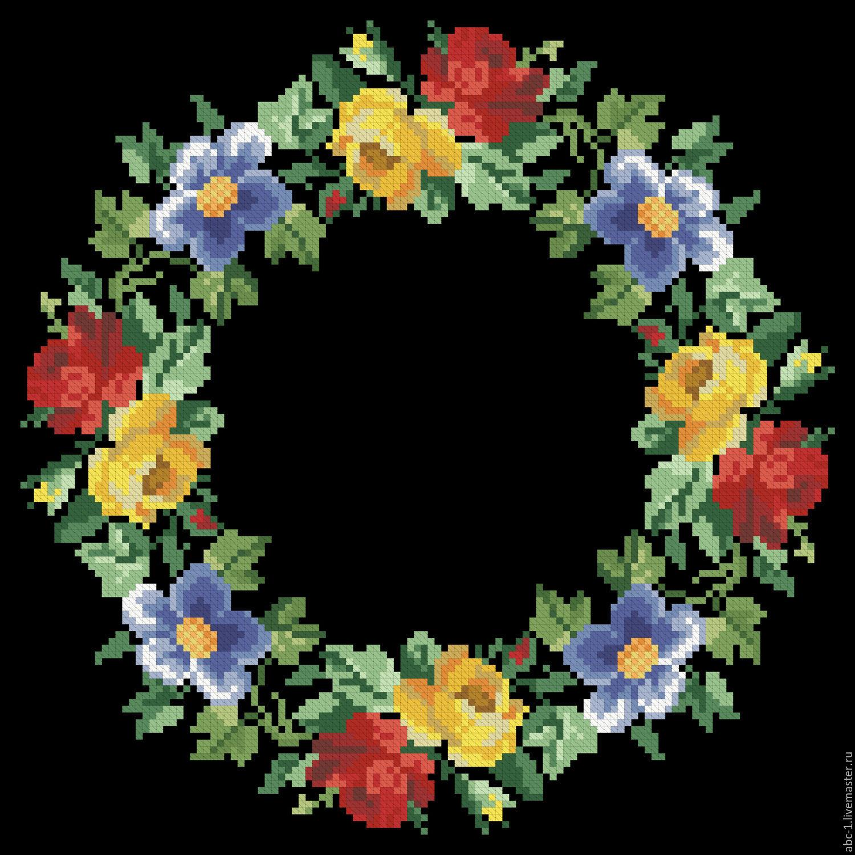 Вышивка венков из цветов 546