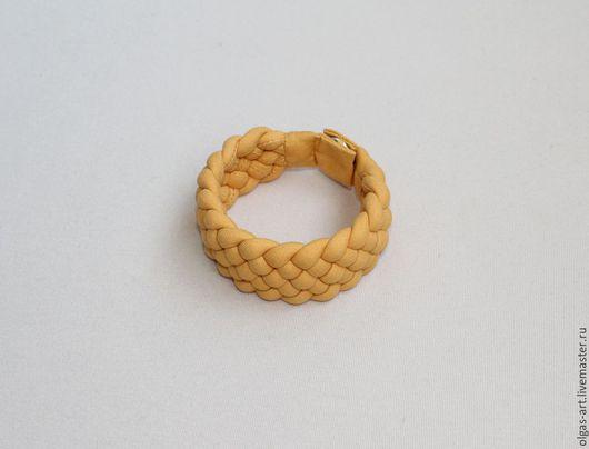 """Браслеты ручной работы. Ярмарка Мастеров - ручная работа. Купить Браслет """"Сахара"""" (1). Handmade. Желтый, плетеное украшение"""