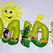 Для дома и интерьера ручной работы. Ярмарка Мастеров - ручная работа Имя из фетра Полюшка или Олюшка. Handmade.