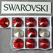 Материалы для творчества handmade. Livemaster - original item 1 PCs 12mm Rivoli Light Siam 227 Swarovski Rivoli Swarovski. Handmade.