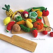 Куклы и игрушки ручной работы. Ярмарка Мастеров - ручная работа Набор вязаных овощей и фруктов. Handmade.