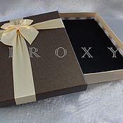 Материалы для творчества ручной работы. Ярмарка Мастеров - ручная работа Коробка подарочная 25х18х4см Цвета разные. Handmade.