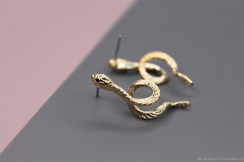 Швенза (1504)змея позолота 33х12 мм, Швензы, Владивосток,  Фото №1