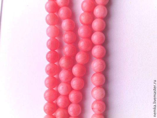 Для украшений ручной работы. Ярмарка Мастеров - ручная работа. Купить Коралл розовый 6 мм. Handmade. Камни