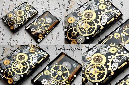 Стимпанк ручной работы. Ярмарка Мастеров - ручная работа. Купить Стимпанк кулон, двойной кулон в стиле стимпанк,часы/ Steampunk. Handmade.