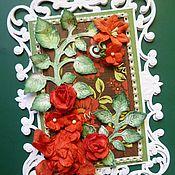 Открытки ручной работы. Ярмарка Мастеров - ручная работа Открытка-мольберт ярко-красная. Handmade.