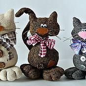 Куклы и игрушки ручной работы. Ярмарка Мастеров - ручная работа Забавные коты. Handmade.
