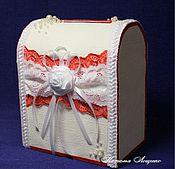 Свадебный салон ручной работы. Ярмарка Мастеров - ручная работа Свадебная казна, сундук для денег. Handmade.