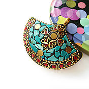 Материалы для творчества handmade. Livemaster - original item Pendant Indonesia big fan 65h55mm. Handmade.